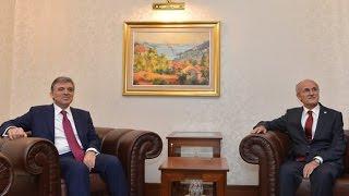 Cumhurbaşkanı Gül, Yargıtay Başkanı Ali Alkan'a veda ziyaretinde bulundu-05.08.2014