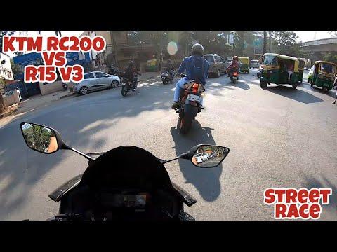 KTM RC 200 vs R15 V3 Devil Mode | Street Race is back ?