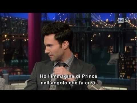 Adam Levine (Maroon 5) on David Letterman    Interview    (ita sub)