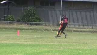 Tight end touch down - American Football (gridiron)