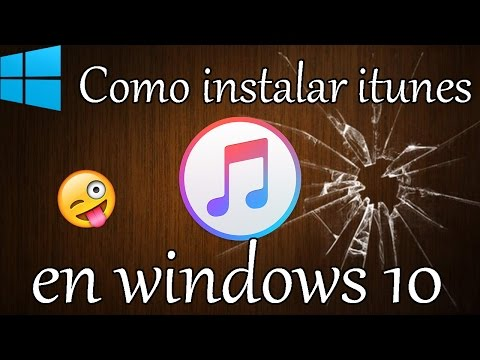 Instalar itunes en windows 10
