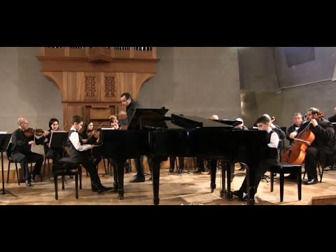 J. S. Bach Concerto for Two Pianos in C minor part 1 - Eduard Grigoryan and Vahagn Avetisyan