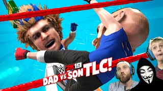 Dad vs Son REMATCH (TLC BIG HEADS Match!) KIDCITY GAMING