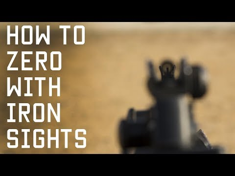 How to Zero With Iron Sights | Shooting Techniques | Tactical Rifleman