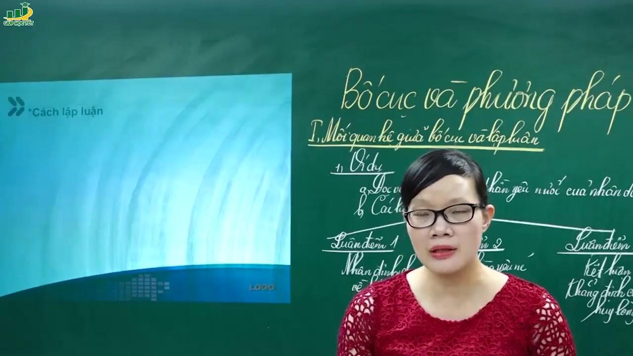 Ngữ Văn Lớp 7 – Bố cục và phương pháp lập luận trong bài văn nghị luận (P1)- Cô Lê Hạnh