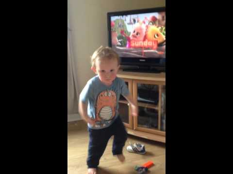 My son William dancing to Didi and b