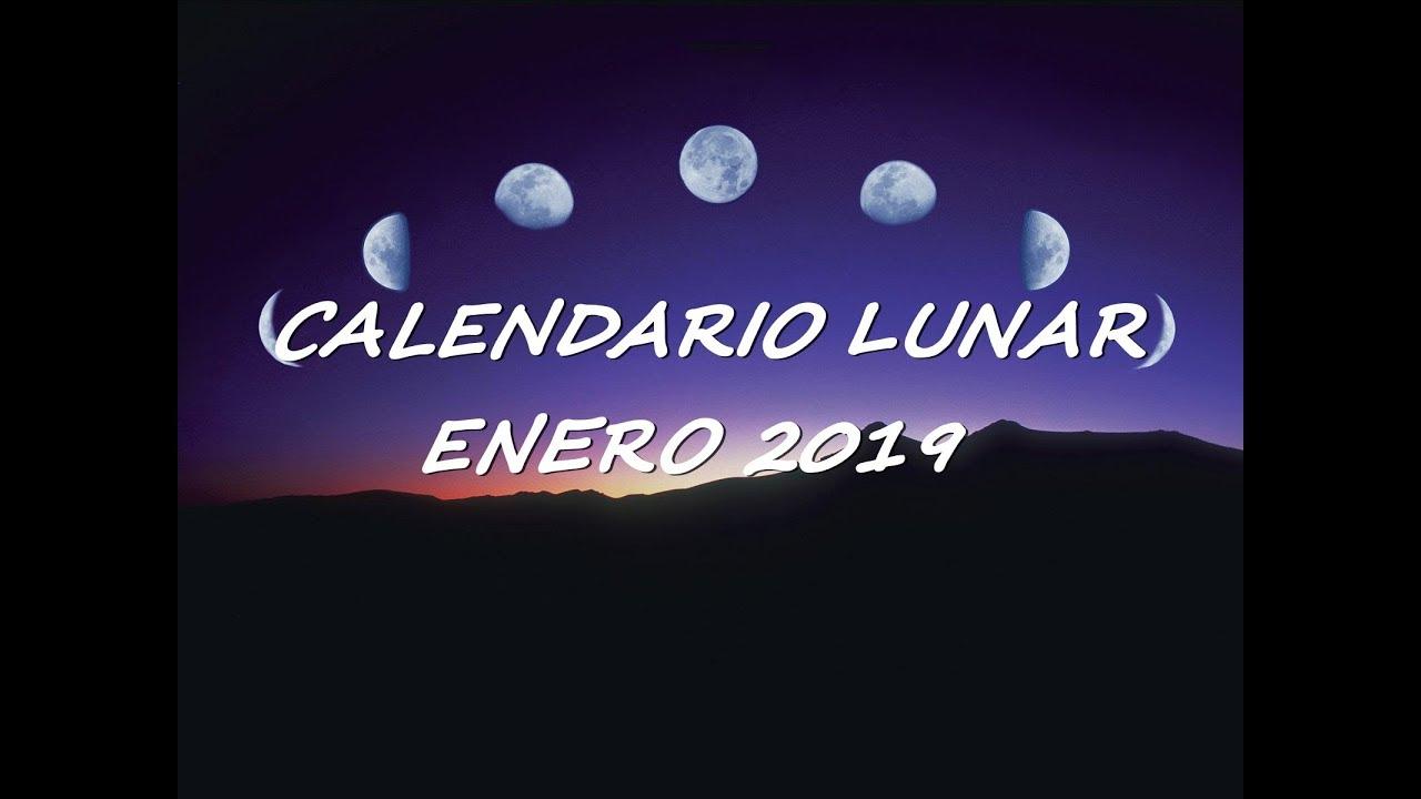 Calendario Lunar 2019 Espana.Calendario Lunar Enero 2019