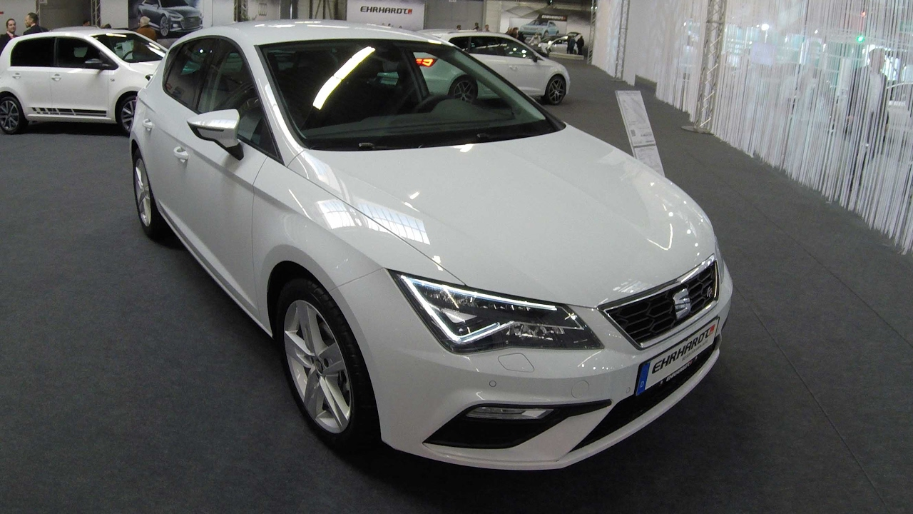 seat leon facelift 2017 fr line nevada white walkaround and interior youtube. Black Bedroom Furniture Sets. Home Design Ideas