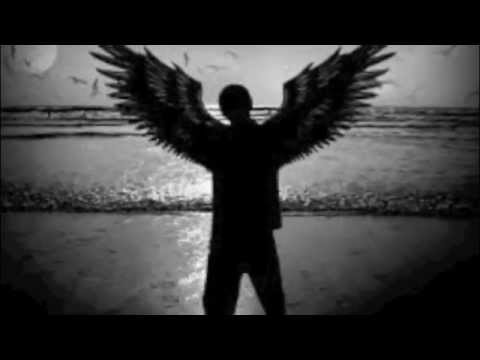 a man with enormous wings