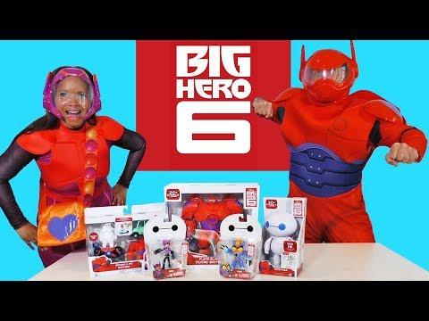 Big Hero 6 Toy Challenge Honey Lemon vs. Baymax ! -- Toy Review -- Konas2002 - 동영상