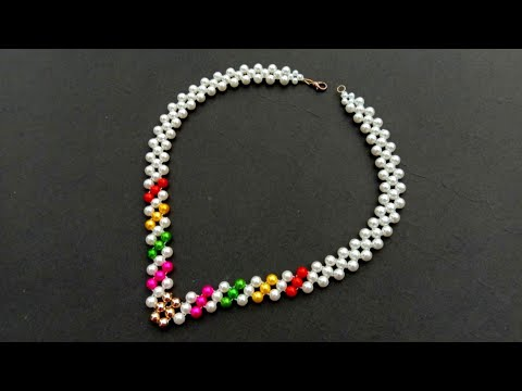 How To Make// Beautiful Pearl Necklace//At Home// Useful & Easy