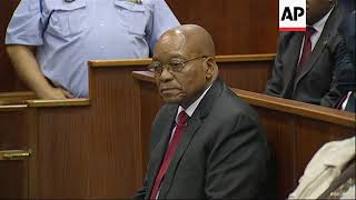 Former SAfrican Pres Zuma in court on corruption charges