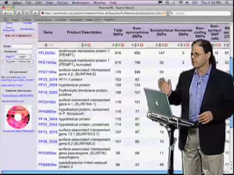 David Roos (U Penn) Part 3B: Designing and mining pathogen genome databases