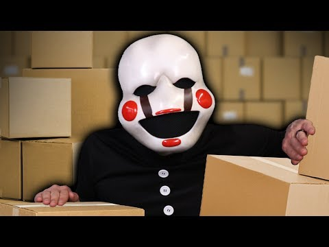 PUPPET'S Secret Factory! FNAF Sister Location REAL LIFE HIDE N SEEK