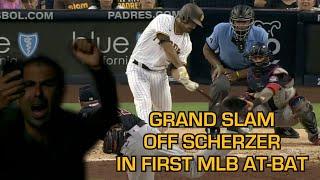 Padres reliever Daniel Camarena hits a grand slam off Max Scherzer, a breakdown