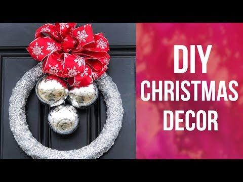 DIY Dollar Tree Christmas Wreath | Holiday Decor Ideas