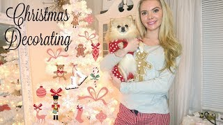 Decorate With Me and my Pomeranian | Christmas Tree 2018 Pink & White Wonderland