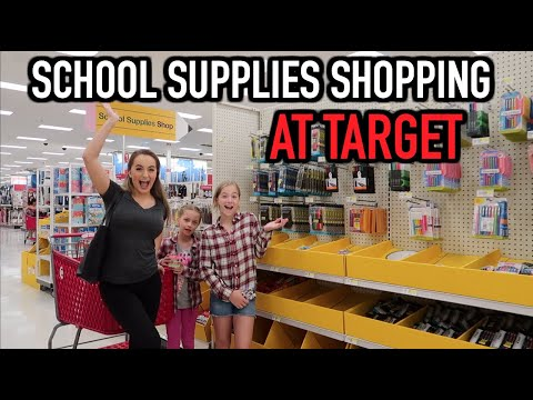 Back To School Supplies Shopping At Target