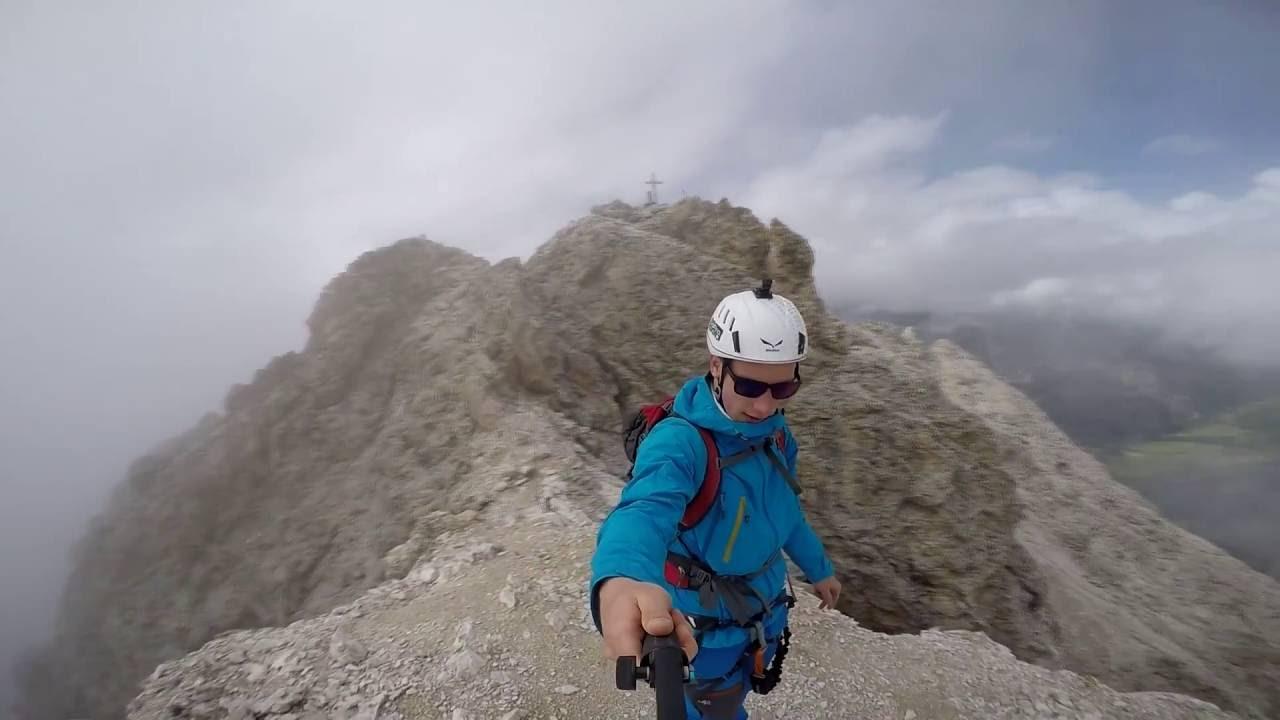 Sass Rigais Klettersteig Villnöss : Sass rigais youtube