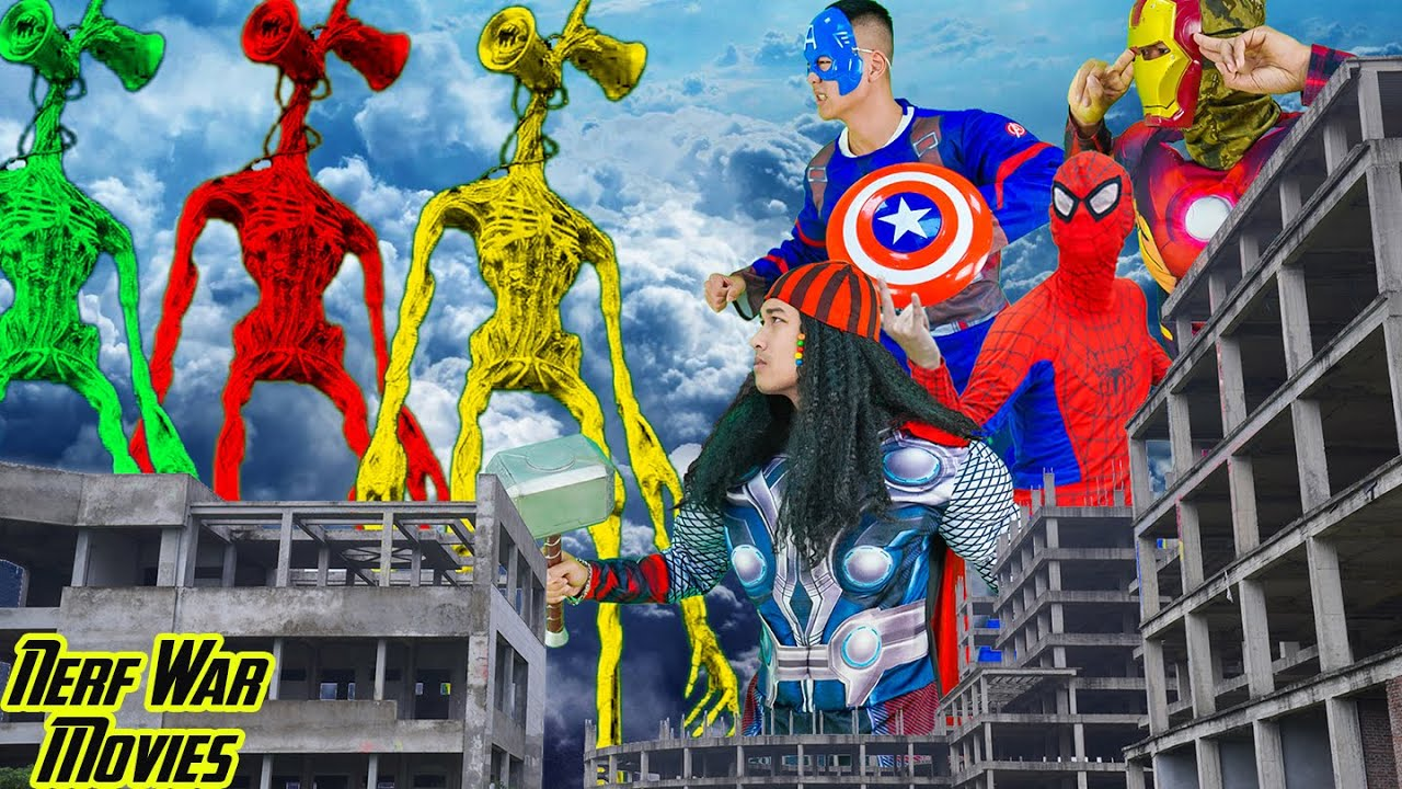 Nerf War Movies:Team Patrol X Warriors Nerf Guns Fight Criminal Group Defeat Siren Head Rescues City