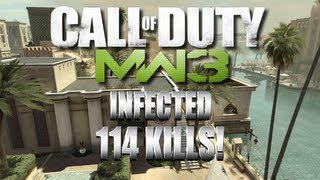 114 Kill Infected Game on Oasis Mw3 Map Pack #5