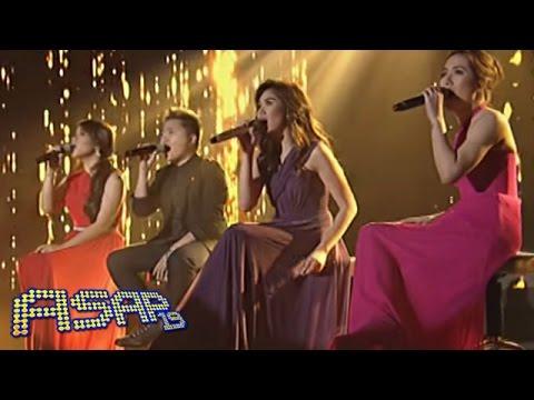 Sarah G, Angeline, Klarisse & Charice 'Just Stand Up' performance on ASAP