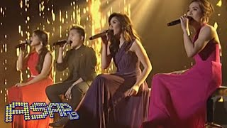 Sarah G, Angeline, Klarisse & Charice 'Just Stand Up' performance on ASAP