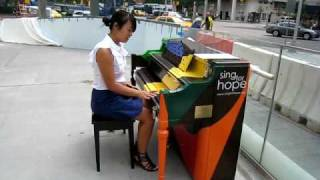 Ann plays NYC Street Pianos at Lincoln Center