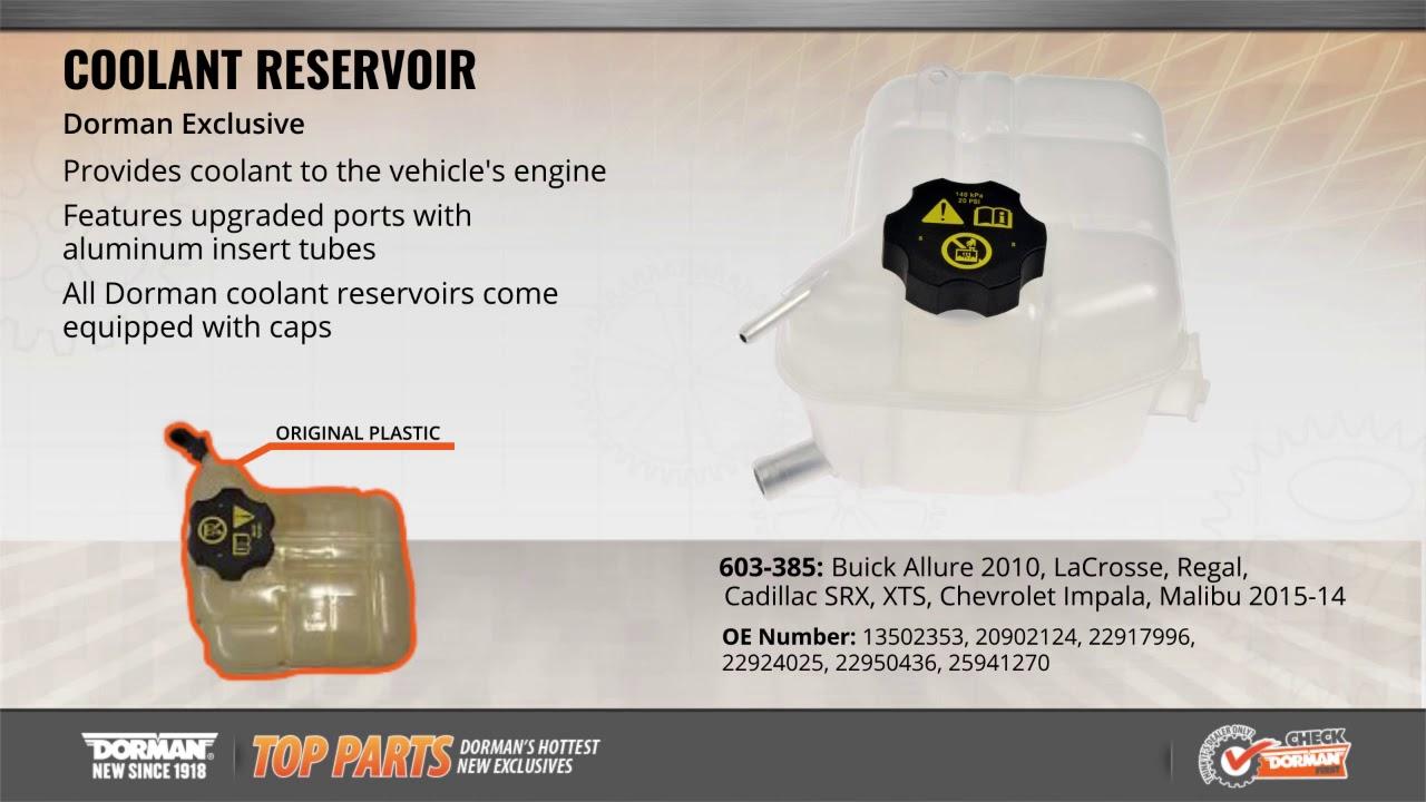 Dorman 603-5168 Heavy Duty Pressurized Coolant Reservoir for Select International Trucks