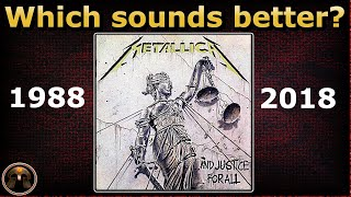 Sorry, it should be 1988 NOT 1986* Comparison of Metallica's ..And ...