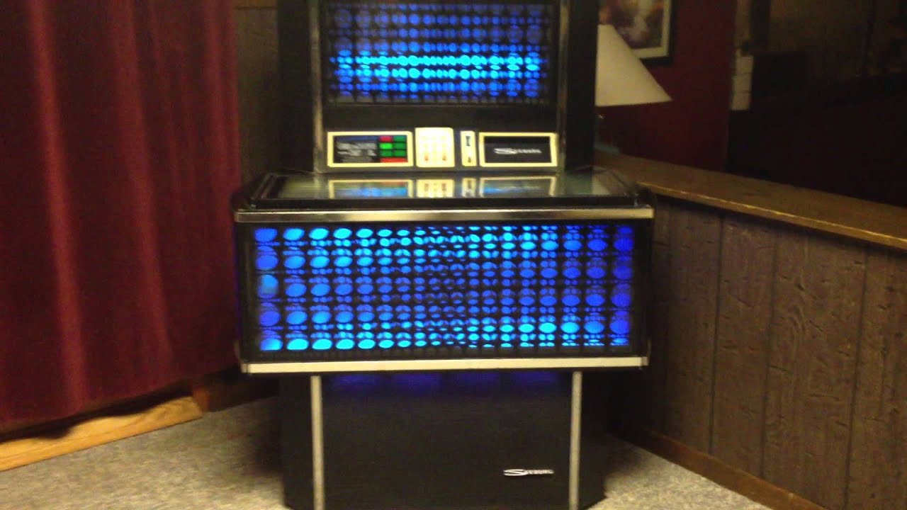 Seeburg Olympian Sps160 Jukebox 1972 In Blue Youtube