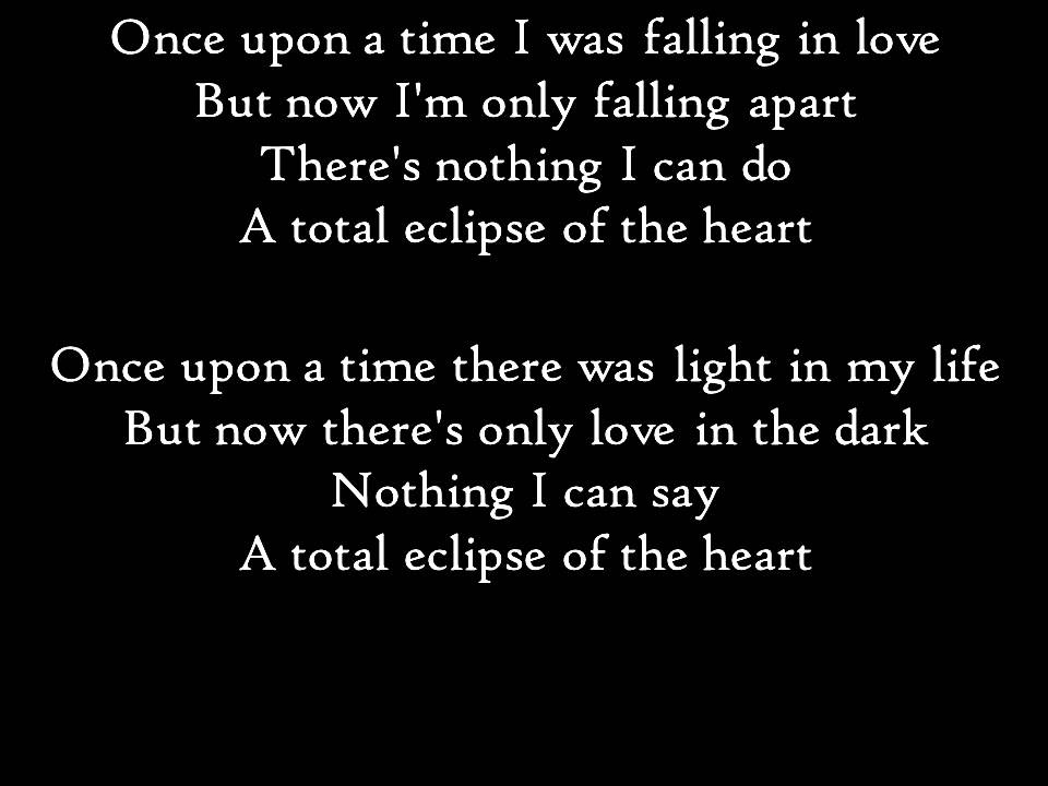 bonnie tyler total eclipse of the heart paroles youtube. Black Bedroom Furniture Sets. Home Design Ideas