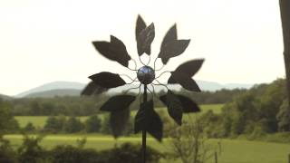 Solar Leaf Metal Wind Spinner Sku# Ka6725 - Wind & Weather