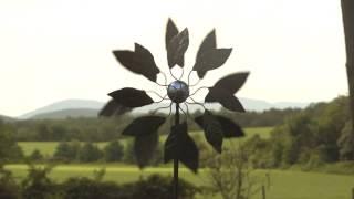 Solar Leaf Metal Wind Spinner SKU# KA6725 - Wind & Weather