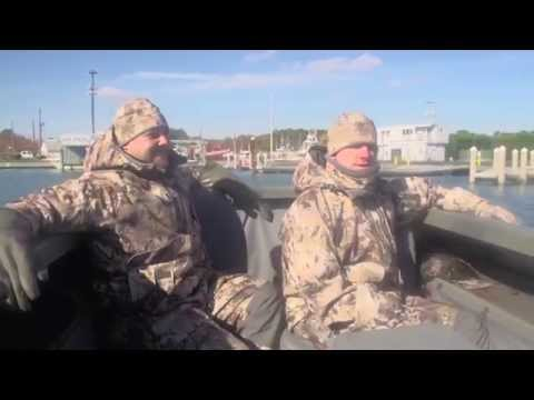 The Grind Waterfowl with Pitboss Waterfowl  Sea Duck Hunting 2105