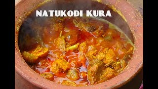 Natu kodi kura in matti kunda// country chicken curry in clay pot/ old style chicken curry