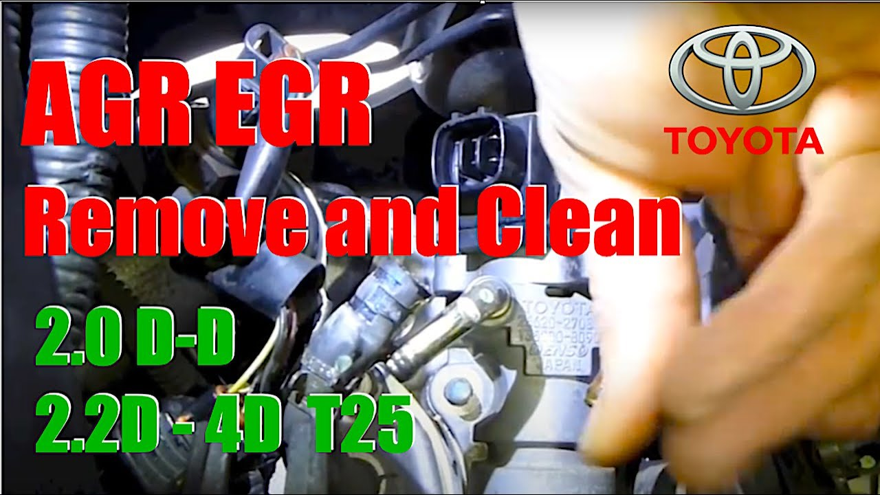 Agr Egr Remove And Clean Valve 2 0d D Toyota Youtube