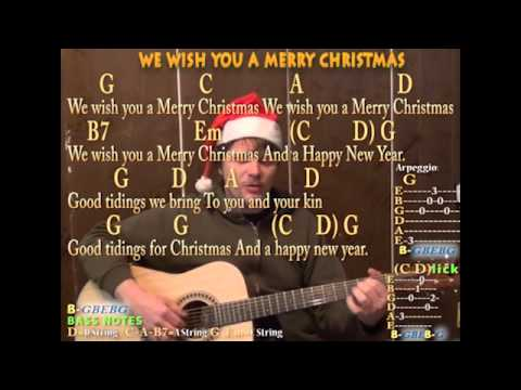 We Wish You A Merry Christmas - Fingerstyle Guitar Cover Lesson Lyrics Chords - Sing and Play ...