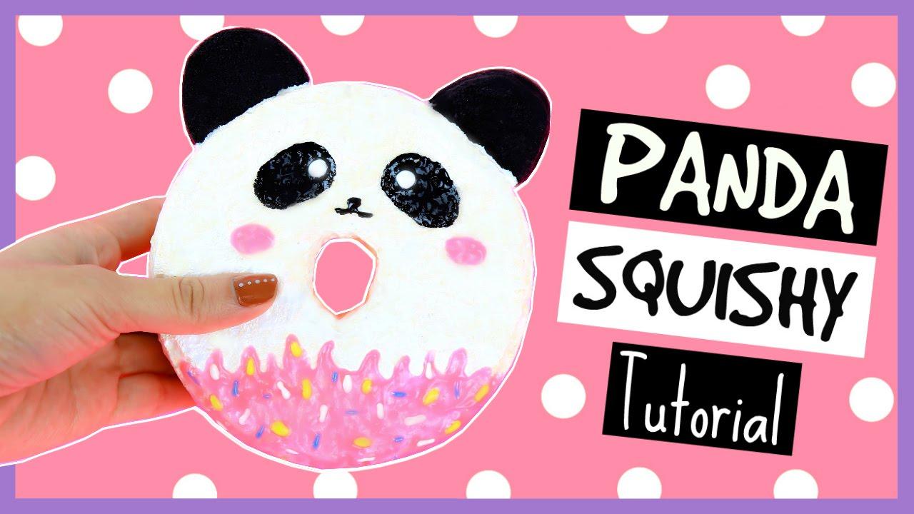 DIY Cute Panda Donut Squishy Tutorial   YouTube