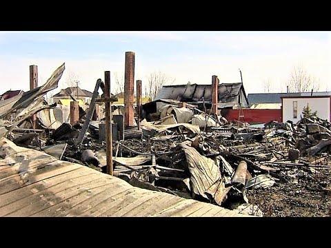 Дачники из Нижневартовска сожгли вместе с сухой травой ещё и дом