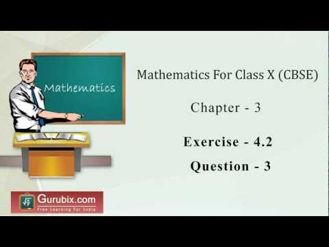 Ex 4.2 : Q.3 : Find two numbers whose sum is 27 and product is 182 ... Ch 4 | Math for Class X CBSE