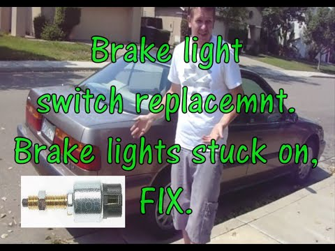 Brake light switch replacement on a Honda accord butits the same on hella vehicles!