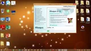 Repeat youtube video ABAQUS 6.13 SETUP