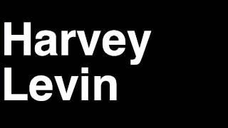 How to Pronounce Harvey Levin Executive Producer TMZ Celebrity Tabloid TV News Show