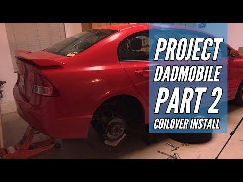 8th Gen Civic Coilover Install: Dadmobile Makes Progress