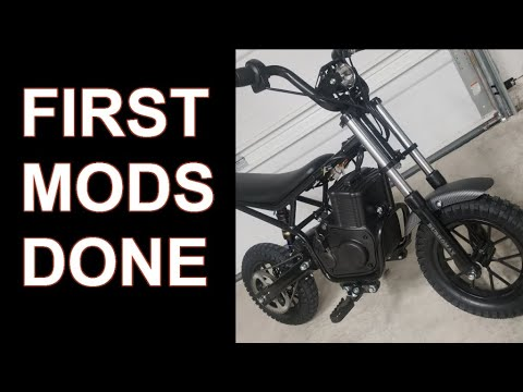 Mods for the Burromax TT350R Electric Mini Bike