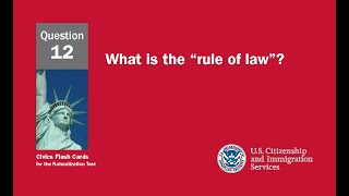 """Question 12: What is the """"rule of law""""?"""