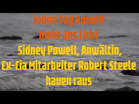 Jeden Tag kommt mehr ans Licht: Sidney Powell, Anwältin, Ex-CIA Mitarbeiter Robert Steele hauen raus