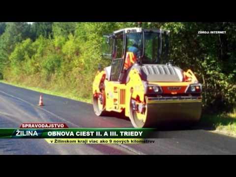 Tv Severka - Obnova Ciest II.  A III.  Triedy V Žilinskom Kraji
