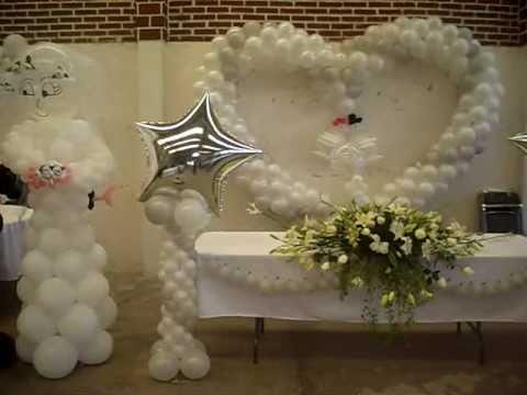 Decoracion boda en loma del padre cuajimalpa youtube for Arreglos con globos para boda en jardin